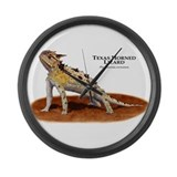 Texas Horned Lizard Large Wall Clock