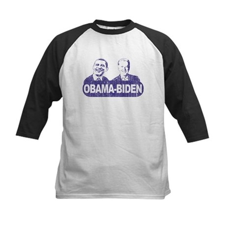 Vintage Obama-Biden Kids Baseball Jersey