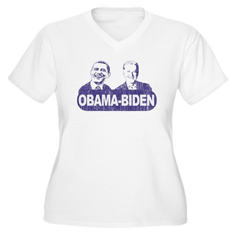 Vintage Obama-Biden Women's Plus Size V-Neck T-Shi