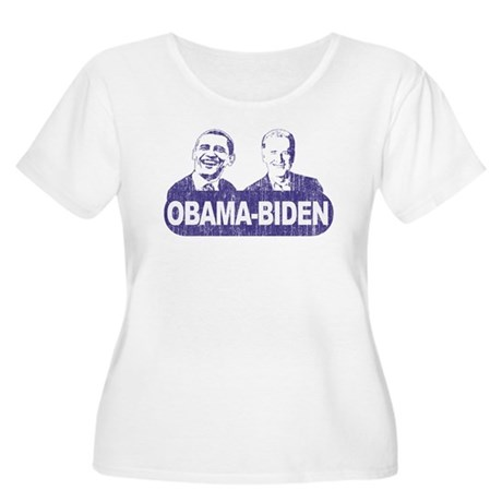 Vintage Obama-Biden Women's Plus Size Scoop Neck T