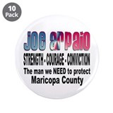 Sheriff Joe Arpaio the man we 3.5&quot; Button (10 pack