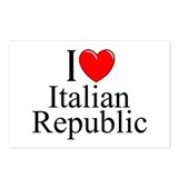 """I Love (Heart) Italian Republic"" Postcards (Packa"