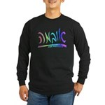 Obama Hebrew Script Long Sleeve Dark T-Shirt