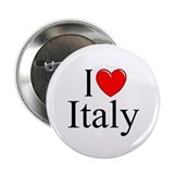 """I Love (Heart) Italy"" 2.25"" Button"