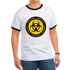 Yellow & Black Biohazard T