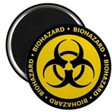 Yellow & Black Biohazard Magnet