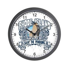 Save the Penguin Rhode Island Wall Clock