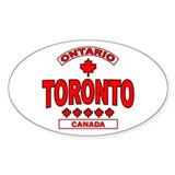 Toronto Ontario Oval Decal