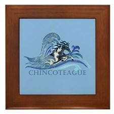 Chincoteague Pony Framed Tile