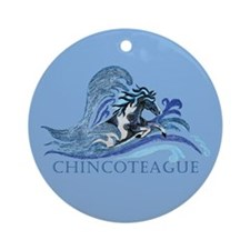 Chincoteague Pony Ornament (Round)