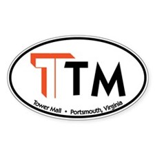 Tower Mall Oval Sticker (50 pk)