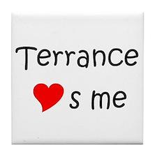 Terrance name Tile Coaster