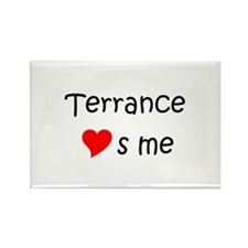 Terrance name Rectangle Magnet (100 pack)