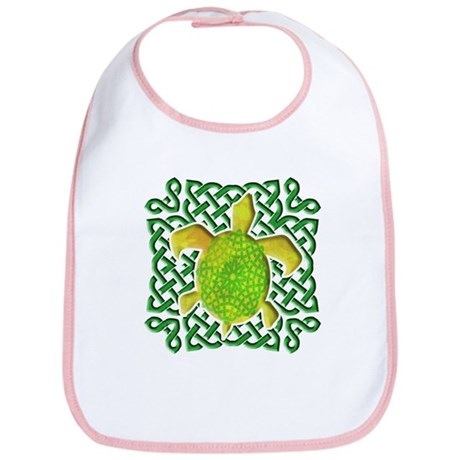 Celtic Knot Turtle (Green) Bib