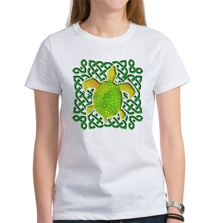 Celtic Knot Turtle (Green) Women's T-Shirt