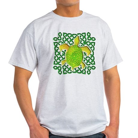 Celtic Knot Turtle (Green) Light T-Shirt