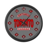 Toronto Ontario Large Wall Clock