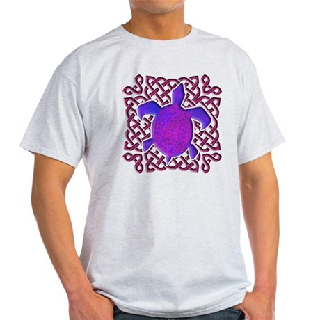 Celtic Knot Turtle (Purple) Light T-Shirt