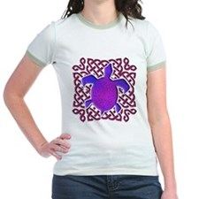 Celtic Knot Turtle (Purple) Jr. Ringer T-Shirt