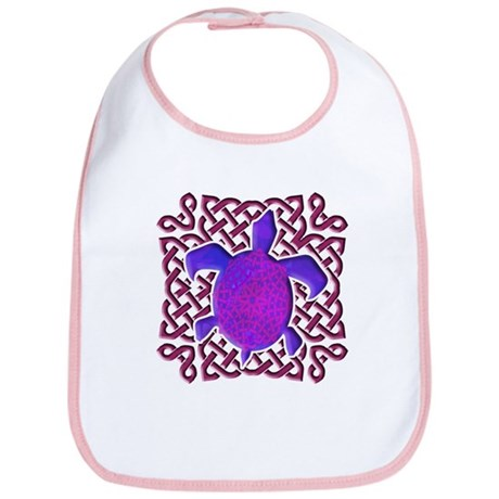 Celtic Knot Turtle (Purple) Bib