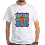 Southwestern Sea Turtle Scene White T-Shirt