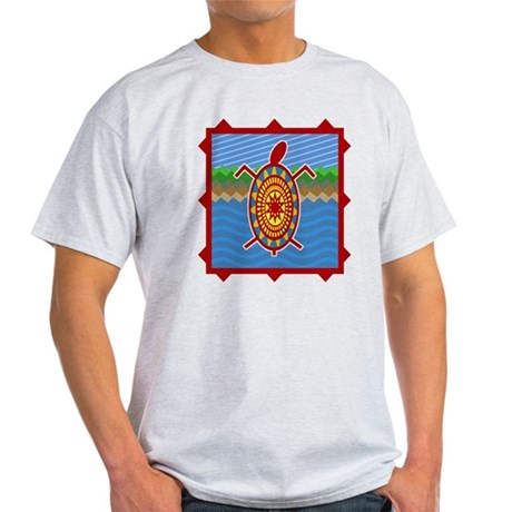 Southwestern Sea Turtle Scene Light T-Shirt