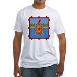 Southwestern Sea Turtle Scene Fitted T-Shirt