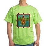 Southwestern Sea Turtle Scene Green T-Shirt