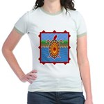 Southwestern Sea Turtle Scene Jr. Ringer T-Shirt