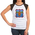 Southwestern Sea Turtle Scene Women's Cap Sleeve T