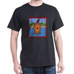 Southwestern Sea Turtle Scene Dark T-Shirt