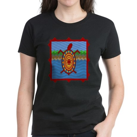 Southwestern Sea Turtle Scene Women's Dark T-Shirt