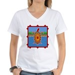 Southwestern Sea Turtle Scene Women's V-Neck T-Shi