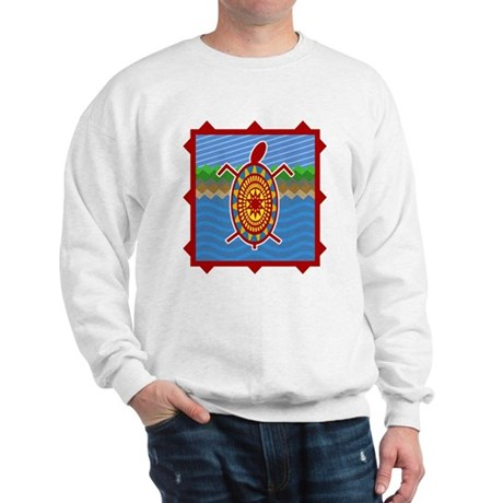 Southwestern Sea Turtle Scene Sweatshirt