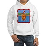 Southwestern Sea Turtle Scene Hooded Sweatshirt