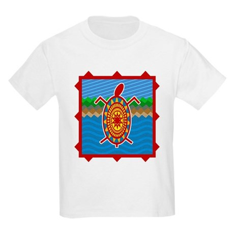 Southwestern Sea Turtle Scene Kids Light T-Shirt