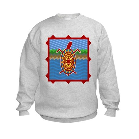 Southwestern Sea Turtle Scene Kids Sweatshirt