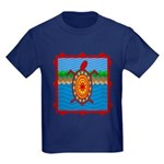 Southwestern Sea Turtle Scene Kids Dark T-Shirt