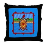 Southwestern Sea Turtle Scene Throw Pillow