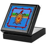 Southwestern Sea Turtle Scene Keepsake Box