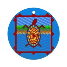 Southwestern Sea Turtle Scene Ornament (Round)