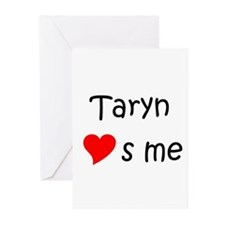 Cute Heart taryn Greeting Cards (Pk of 20)