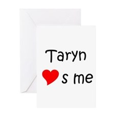 Cute Heart taryn Greeting Card