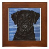 Blue Sky Black Lab Framed Tile