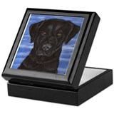 Blue Sky Black Lab Keepsake Box