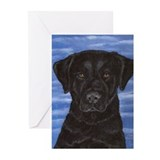 Blue Sky Black Lab Greeting Cards (Pk of 10)