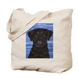 Blue Sky Black Lab Tote Bag
