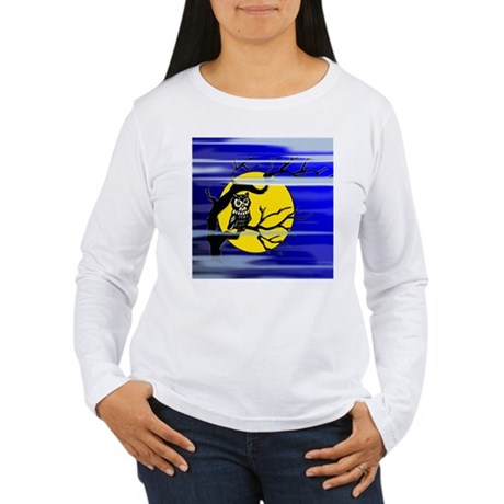 Harvest Moon Owl Women's Long Sleeve T-Shirt