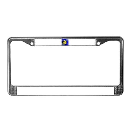 Harvest Moon Owl License Plate Frame
