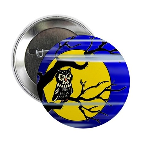 "Harvest Moon Owl 2.25"" Button (100 pack)"
